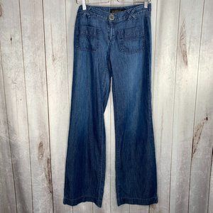 Goldsign Lilo Wide Leg Mid Rise Jeans Size 26